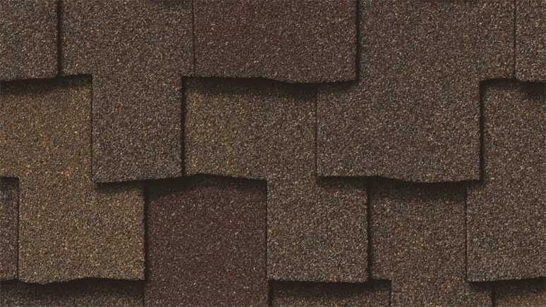 Owens Corning Woodmoor premium asphalt shingle in Timber color